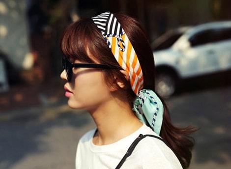 tóc buộc khăn turban