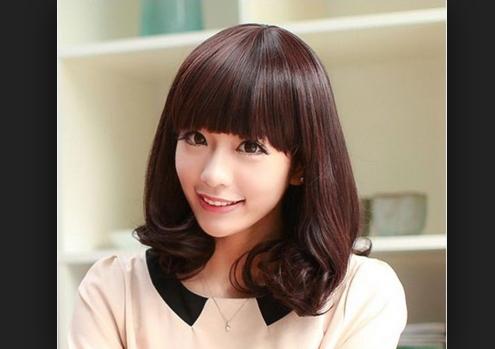 tóc mái bằng cho mặt trái xoan