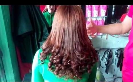 tóc uốn đuôi lọn nhỏ