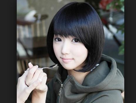 tóc ngắn kết hợp mái xéo